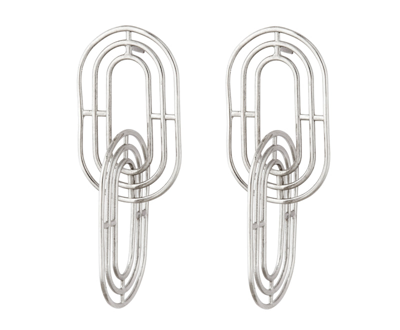Minim Earrings - Silver Polished - Charlotte Valkeniers Design Ltd