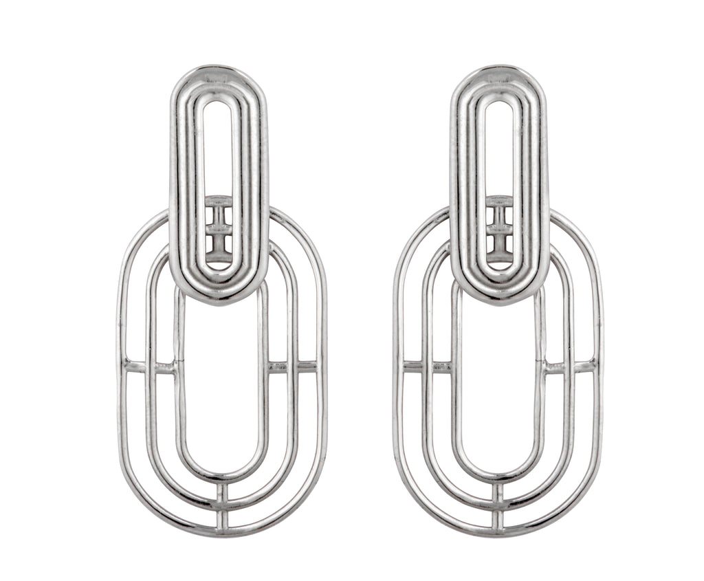 Meta Earrings - Silver Polished - Charlotte Valkeniers Design Ltd