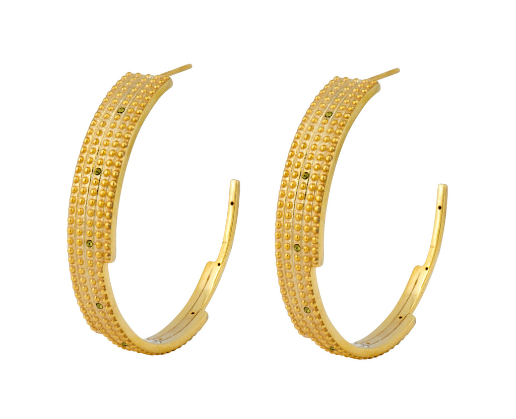 Digit Hoops - Gold Polished