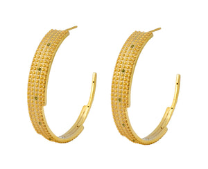 Digit Hoops - Gold Polished - Charlotte Valkeniers Design Ltd
