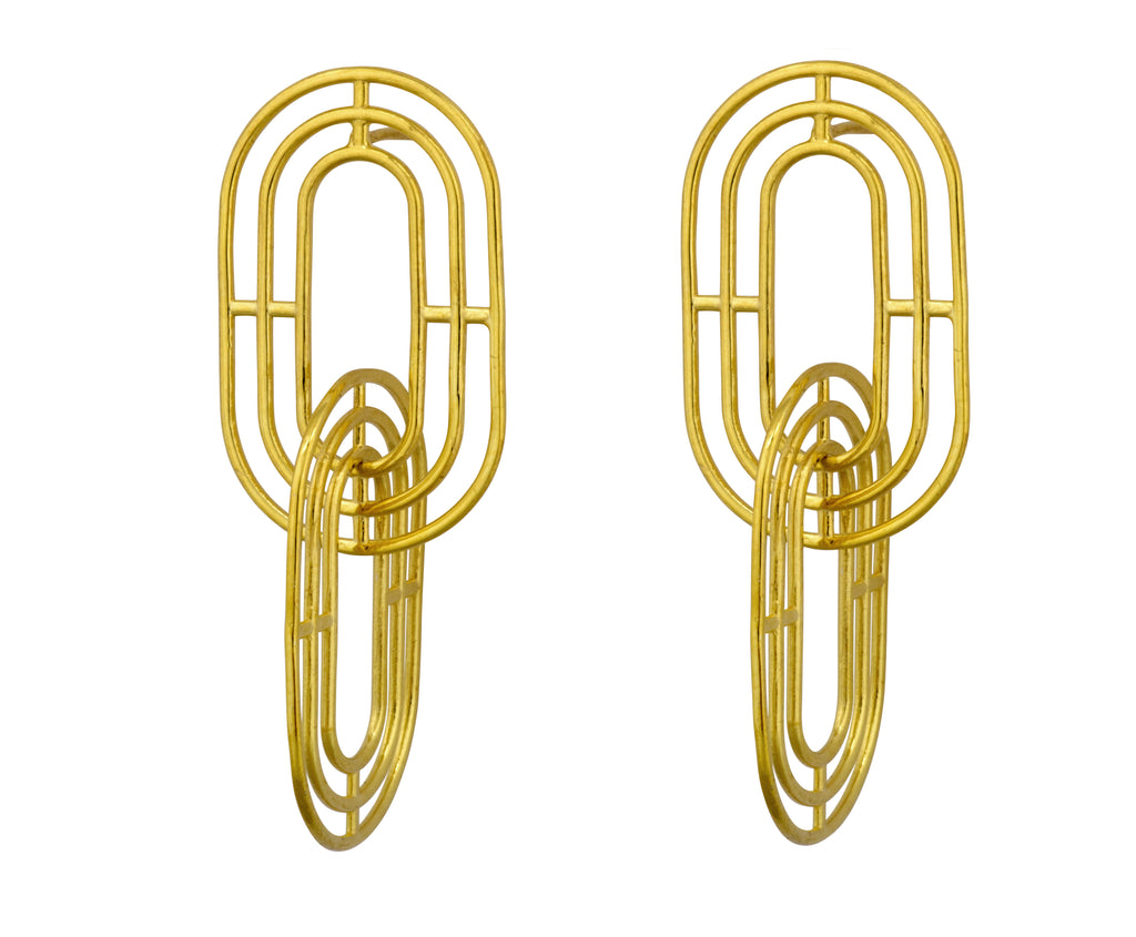 Minim Earrings - Gold Polished