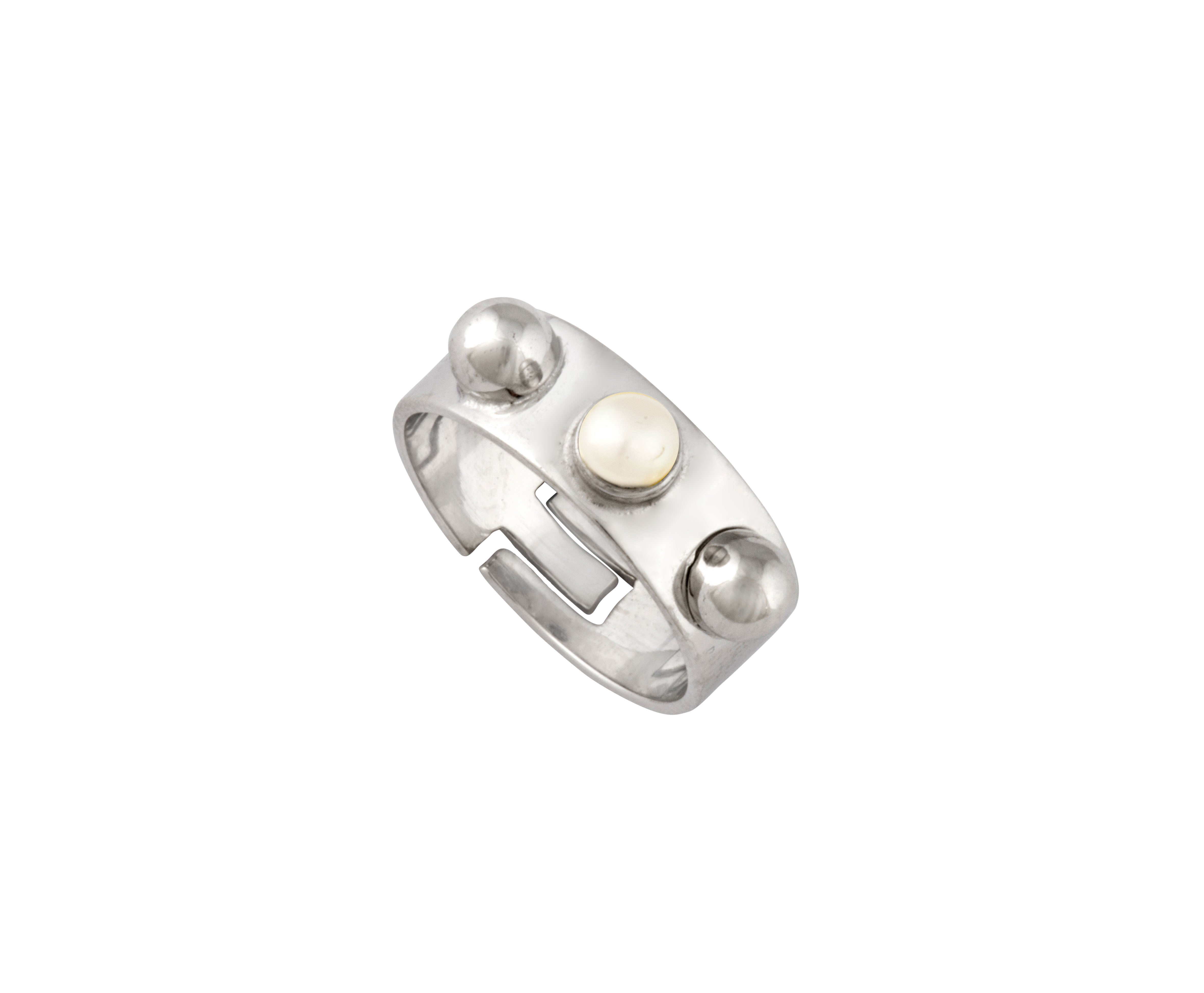 Triple Cyto Ring - Silver Polished