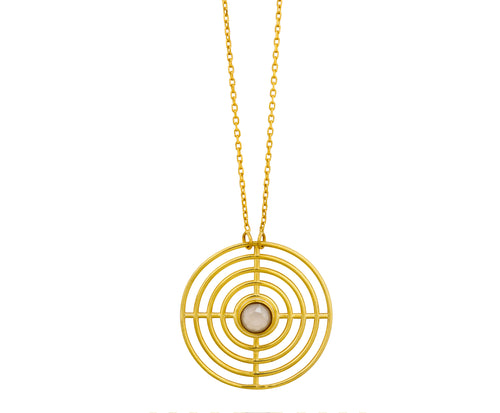 Coil Pendant - Gold Polished