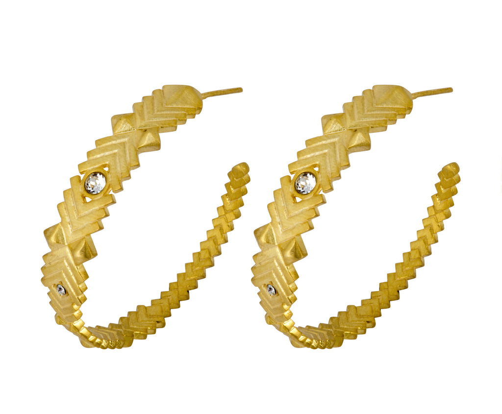Supernova Hoops - Gold Satin