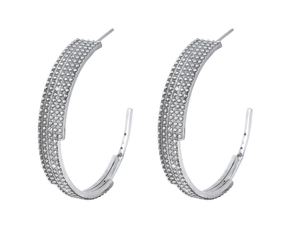 Digit Hoops - Silver Polished