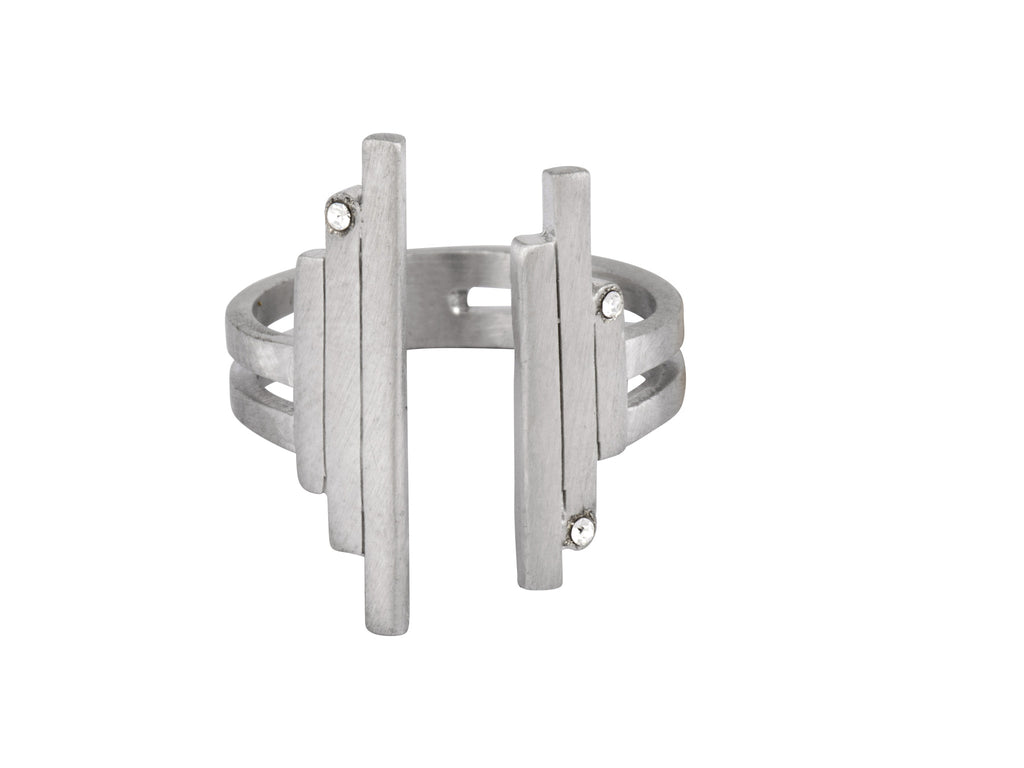 The Open Matrix Ring - Silver Satin