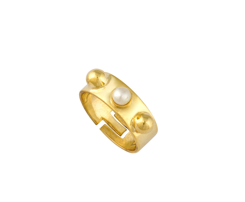 Triple Cyto Ring - Gold Polished - Charlotte Valkeniers Design Ltd