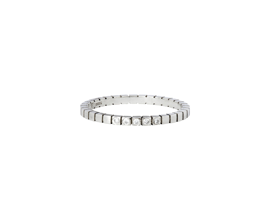 Diamond Cube Ring  - white gold