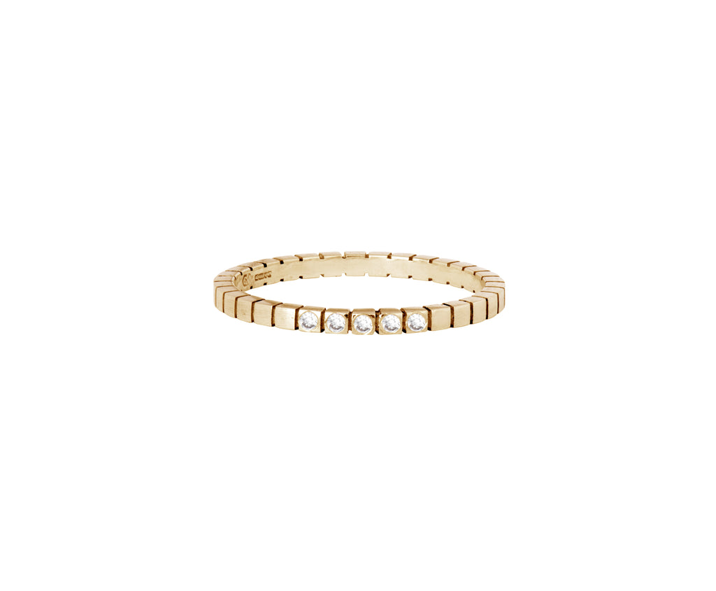 Diamond Cube Ring  - yellow gold