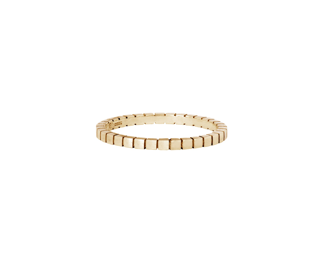 Cube Stacking Ring - yellow gold