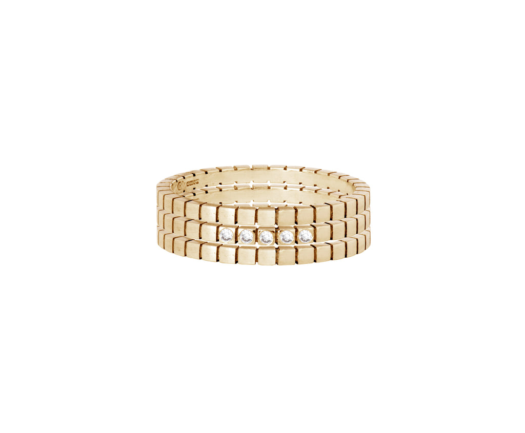 Diamond Cube Ring  - Yellow Gold - Charlotte Valkeniers Design Ltd