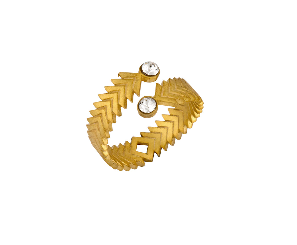 Solar ring - Gold Satin - Charlotte Valkeniers Design Ltd