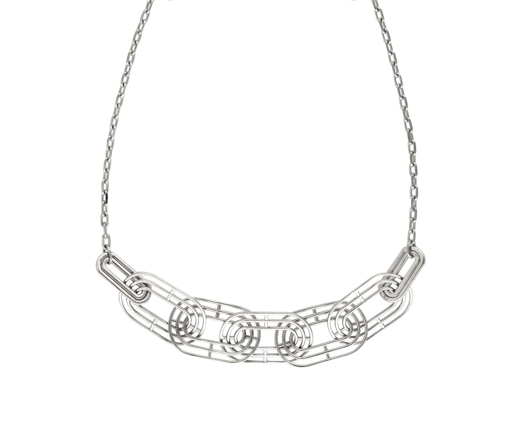 Meta Necklace - Silver Polished
