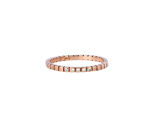 Diamond Cube Ring  - rose gold