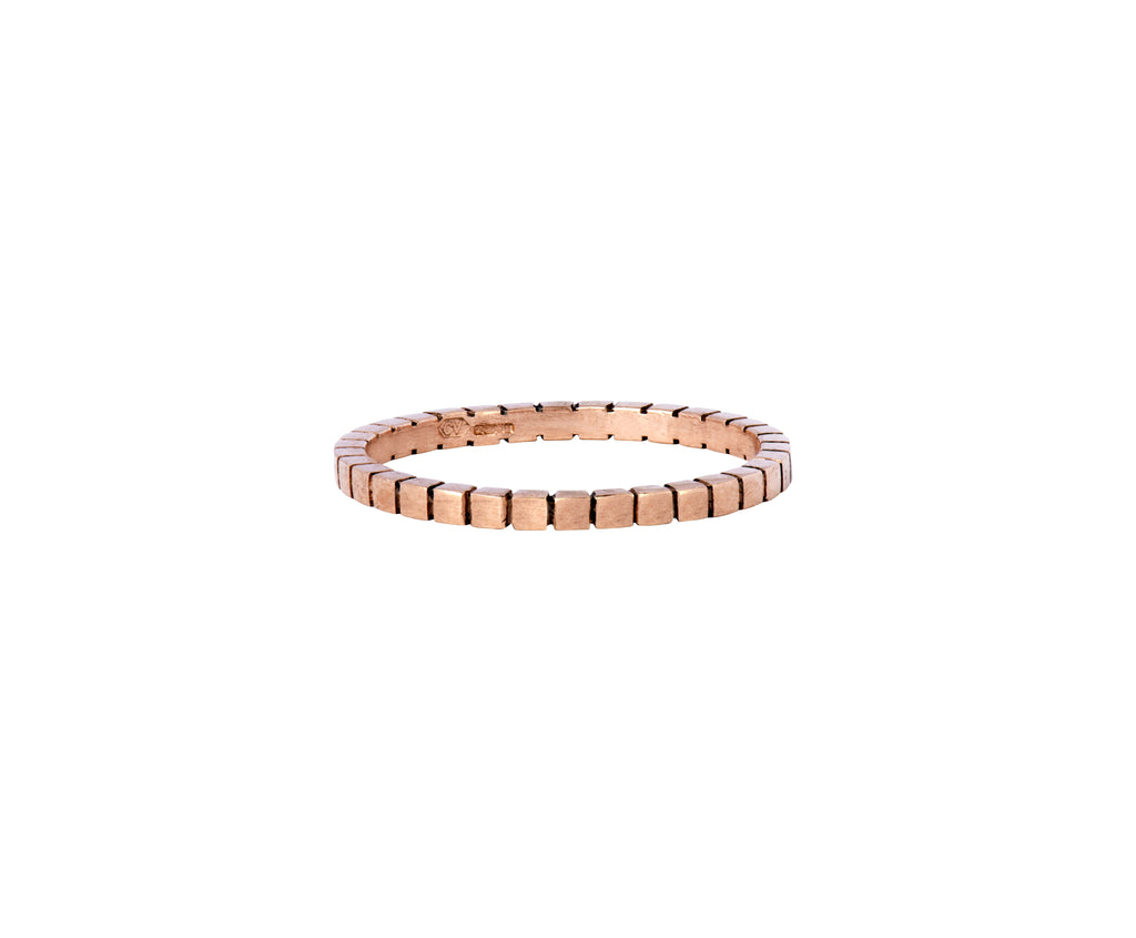 Cube Stacking Ring - Rose Gold - Charlotte Valkeniers Design Ltd