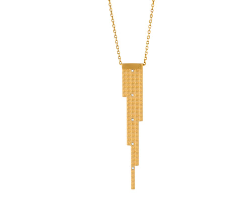 Digit Pendant - Gold Satin