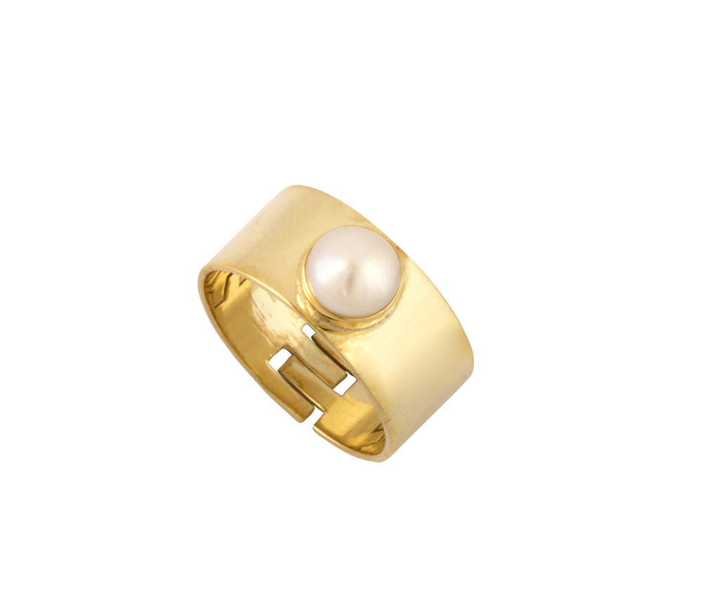 Cyto Ring - Gold Polished/Pearl