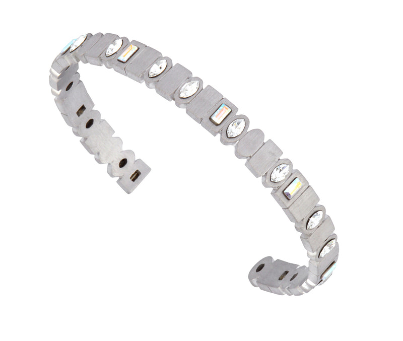 The Binary Cuff - Silver Satin - Charlotte Valkeniers Design Ltd