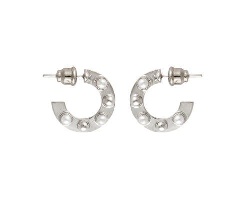 Small Cyto Hoops - Silver Polished
