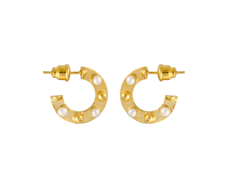 Small Cyto Hoops - Gold Polished - Charlotte Valkeniers Design Ltd