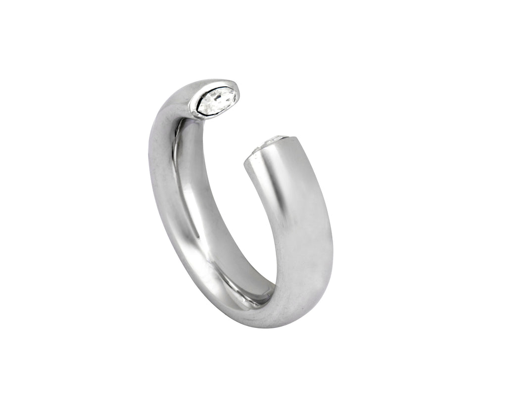The Zero Ring - Silver Polished - Charlotte Valkeniers Design Ltd