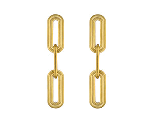 Wave Earrings - Gold Polished - Charlotte Valkeniers Design Ltd