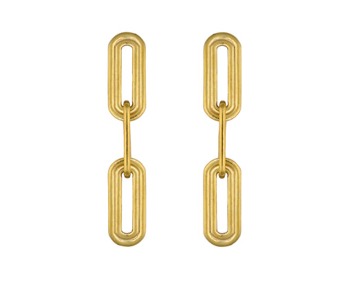 Wave Earrings - Gold Polished