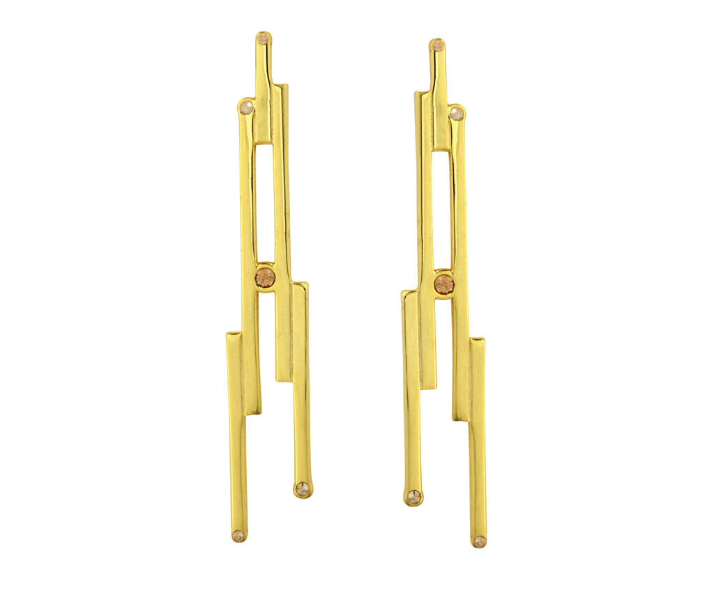 The Digit Earrings - Gold Polished - Charlotte Valkeniers Design Ltd