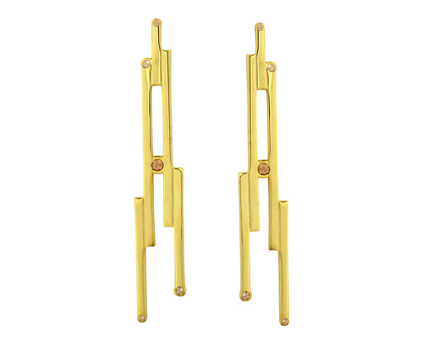 The Digit Earrings - Gold Polished