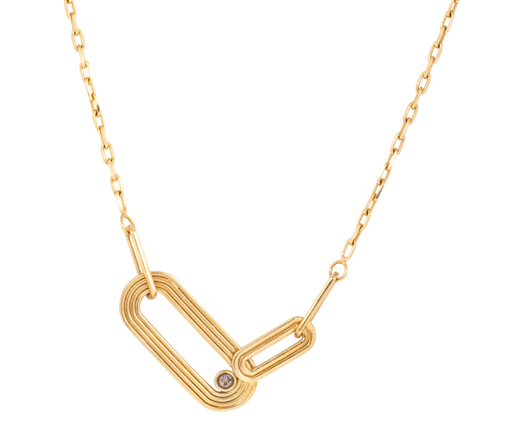Pilot Necklace - Gold Polished
