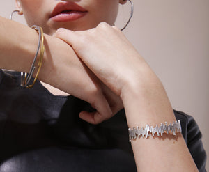 The Matrix Cuff - Silver Polished - Charlotte Valkeniers Design Ltd