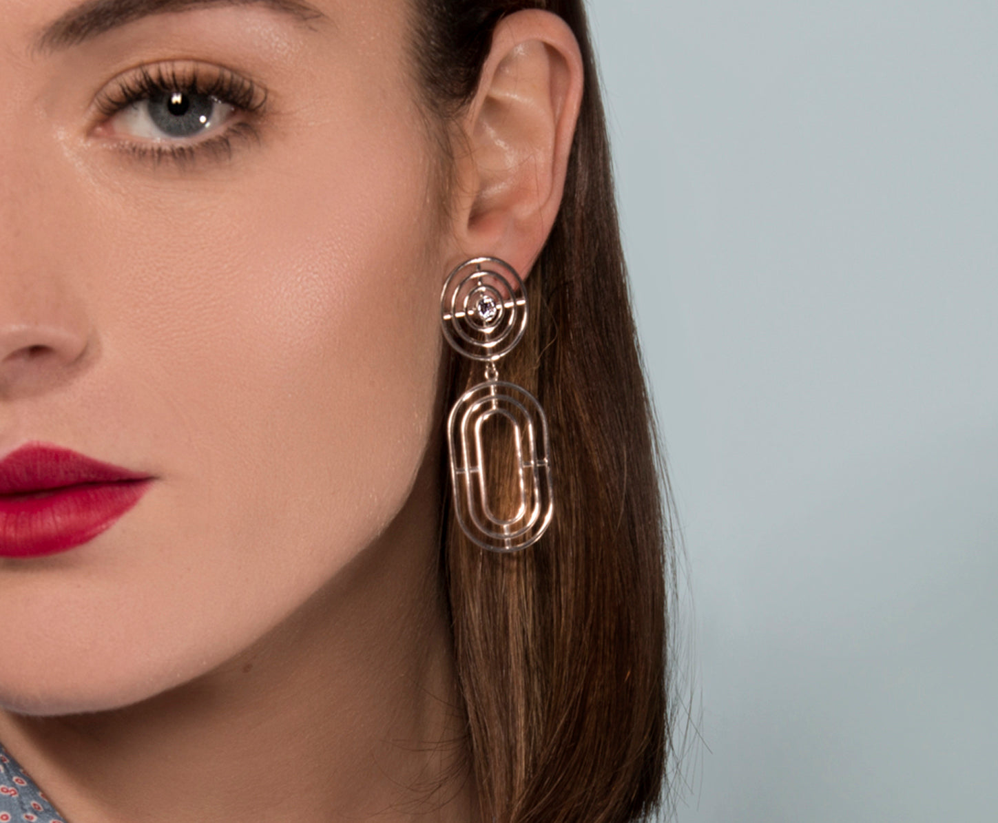 Coil Earrings - Silver Polished
