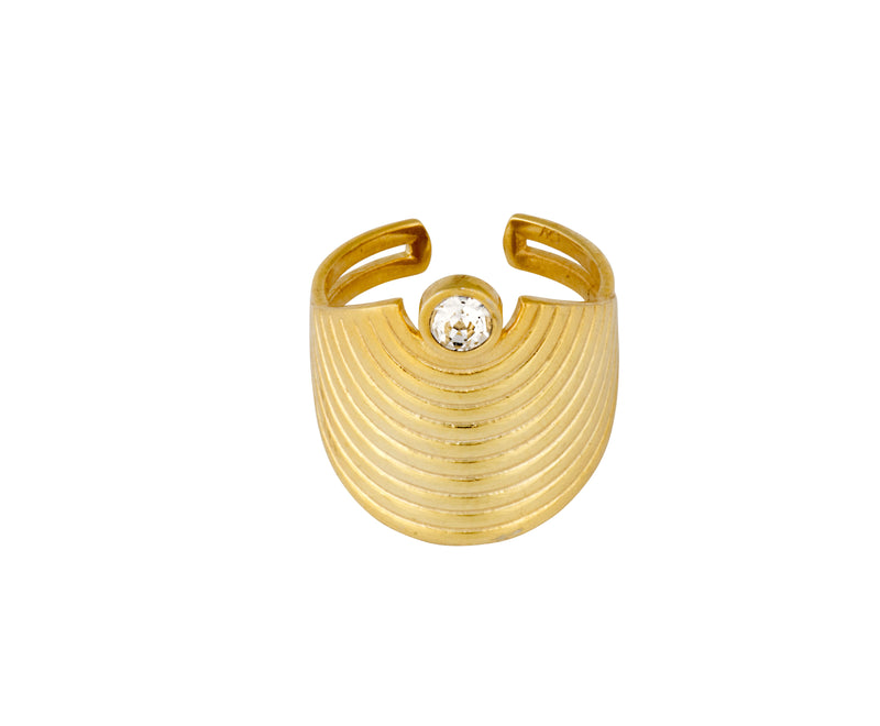 Spectrum Ring - Gold Polished - Charlotte Valkeniers Design Ltd