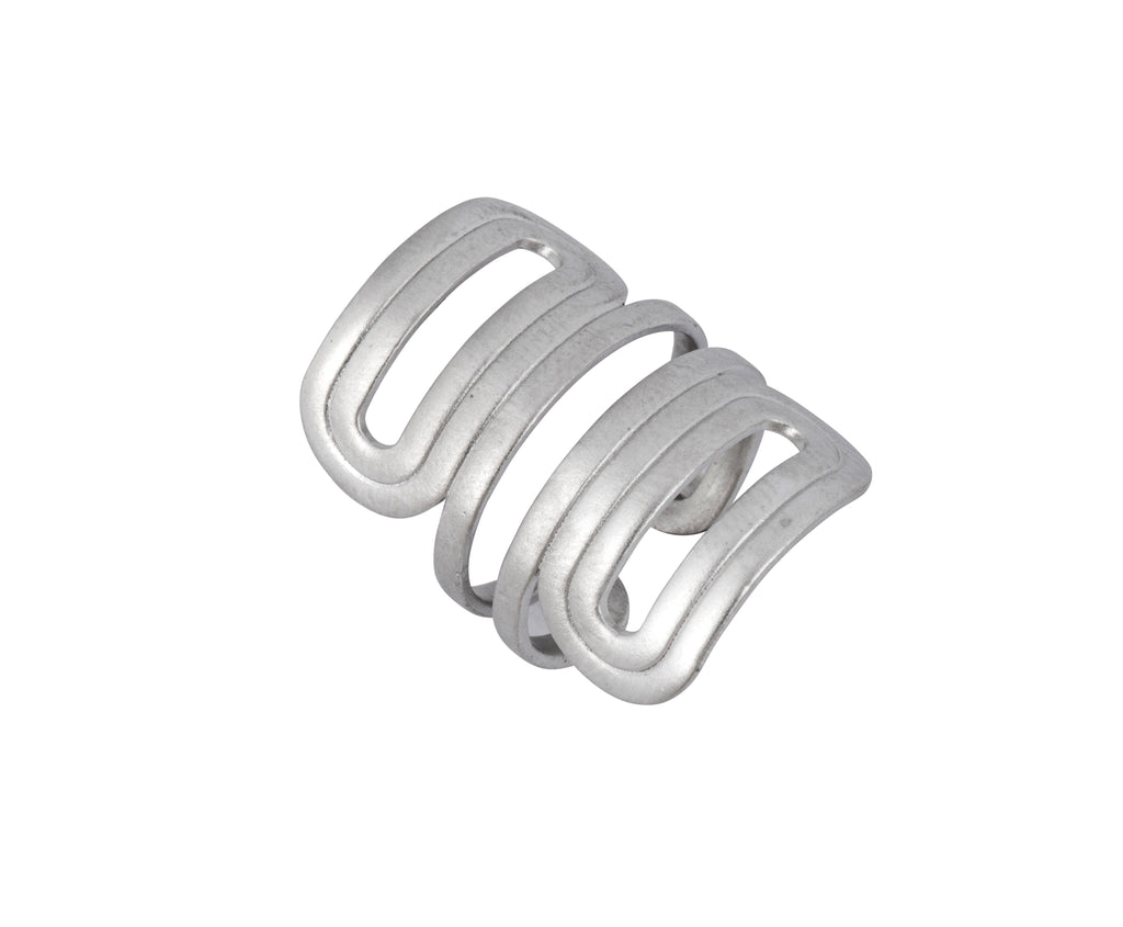 Wave Ring - Silver Satin