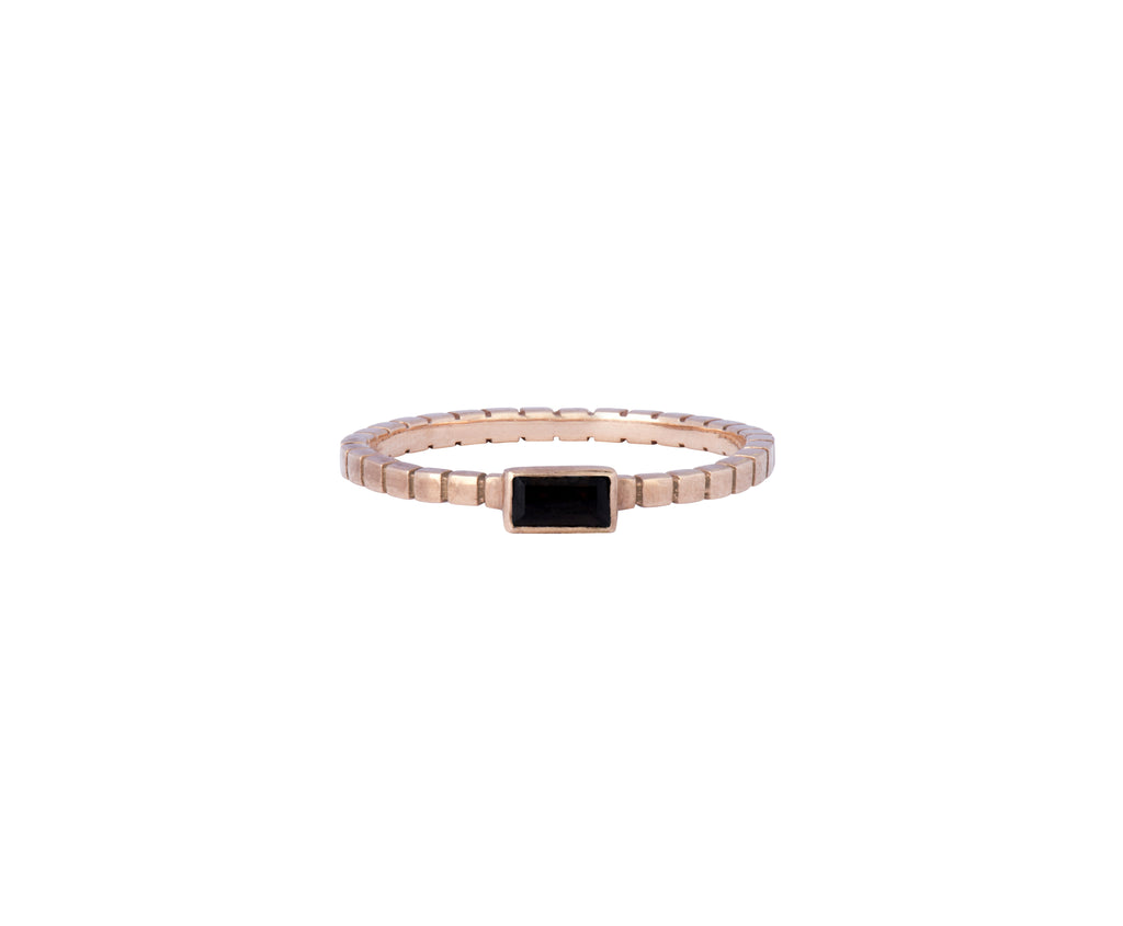 Cube Ring - Rose Gold and Smokey Quartz - Charlotte Valkeniers Design Ltd