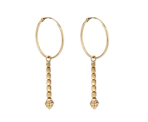Pillar Earrings - Yellow Gold - Charlotte Valkeniers Design Ltd