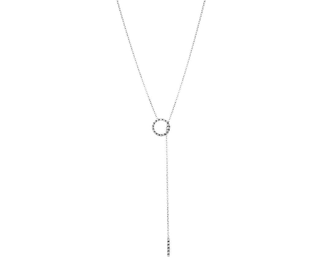 Cube Necklace - White Gold - Charlotte Valkeniers Design Ltd