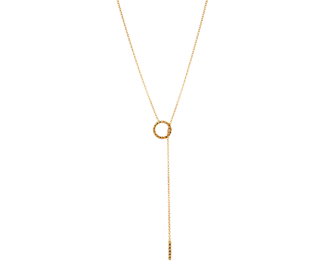 Cube Necklace - Yellow Gold - Charlotte Valkeniers Design Ltd