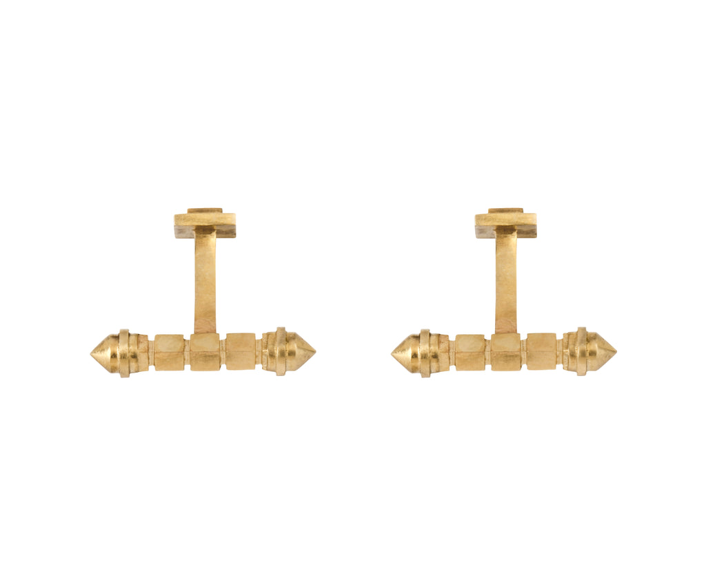 Pillar Cufflinks - yellow gold