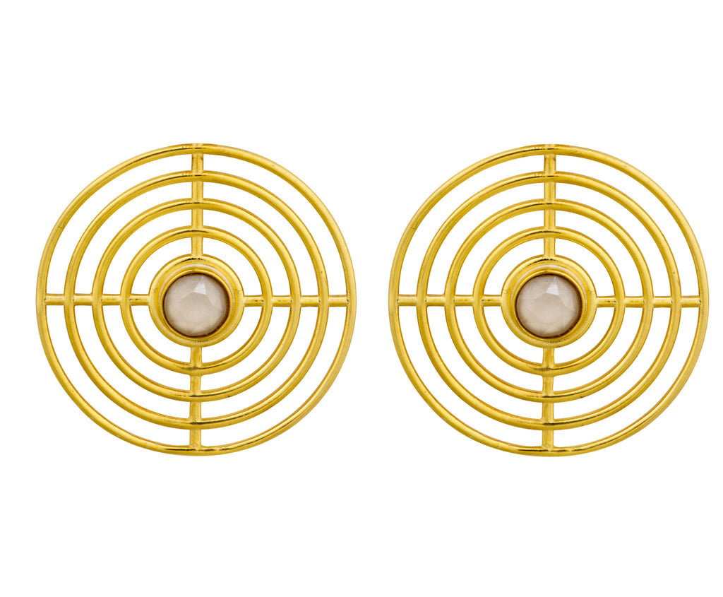 Extra Large Coil Studs - Gold Polished
