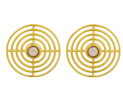 Digit Hoops - Gold Satin