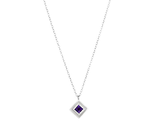 Pillar Necklace - white gold