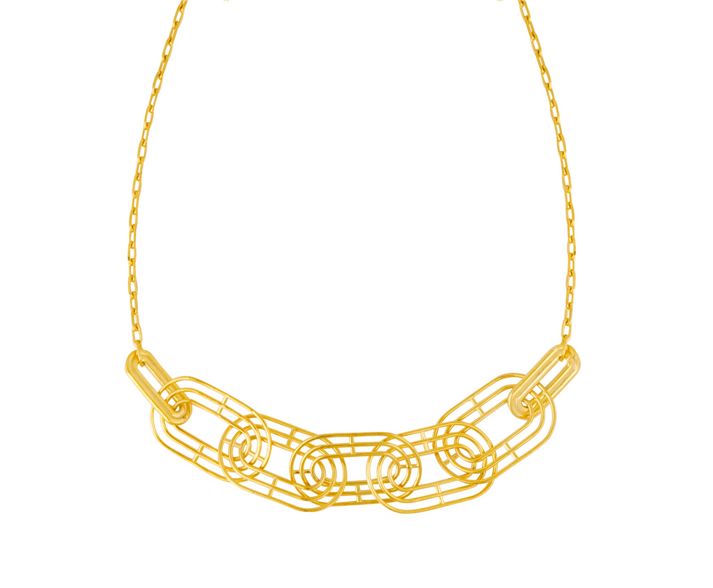 Meta Necklace - Gold Polished - Charlotte Valkeniers Design Ltd