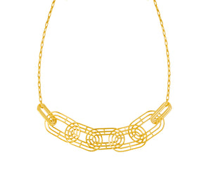Meta Necklace - Gold Polished