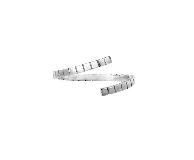 Twist Cube Ring - White Gold - Charlotte Valkeniers Design Ltd