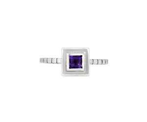 Pillar Ring - white gold