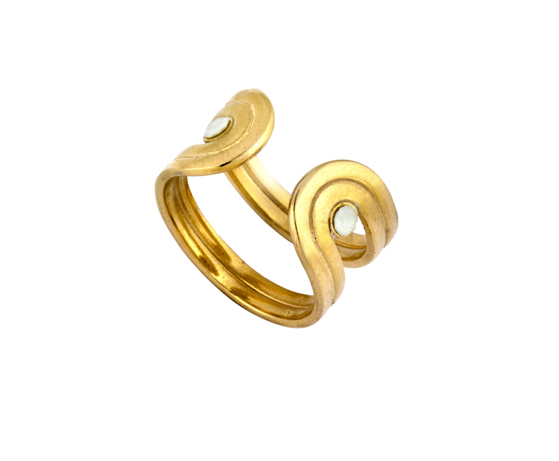 Pilot Ring - Gold Polished - Charlotte Valkeniers Design Ltd