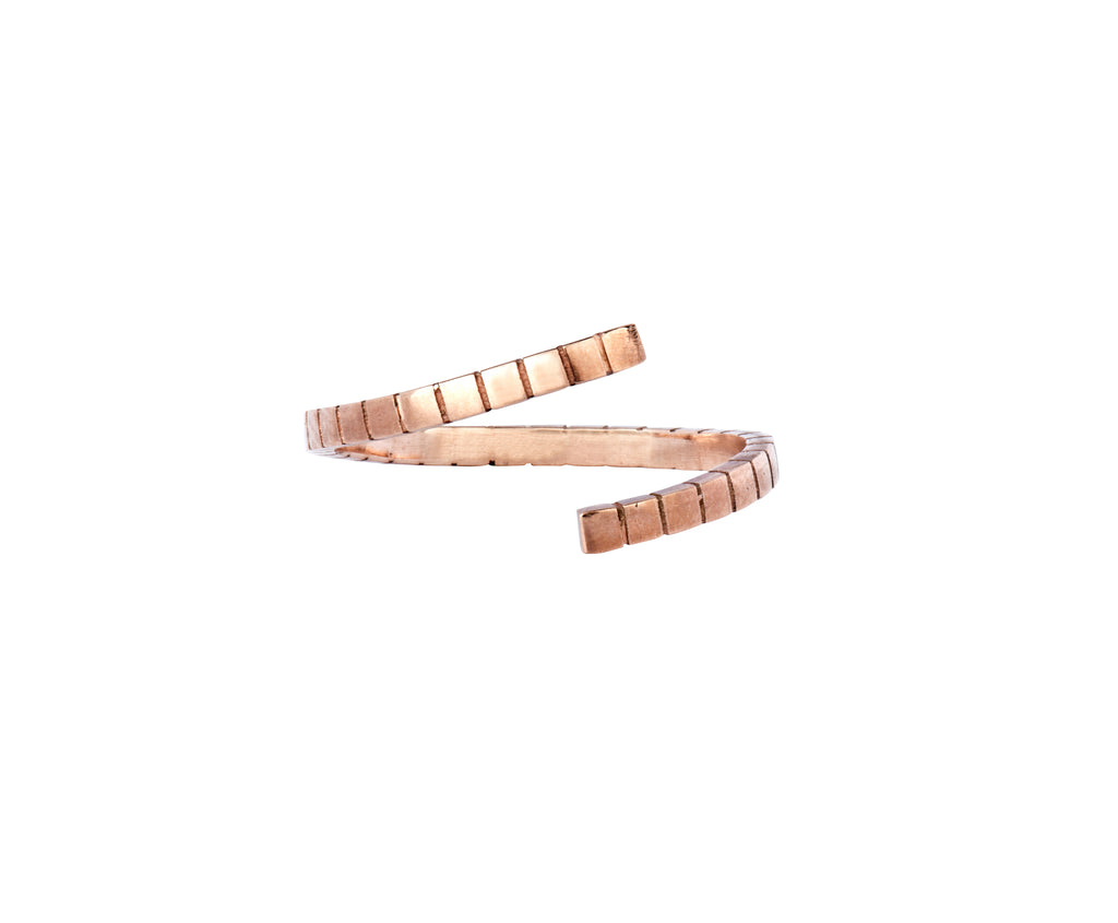 Twist Cube Ring - Rose Gold - Charlotte Valkeniers Design Ltd