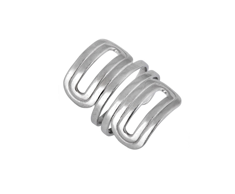 Wave Ring - Silver Polished