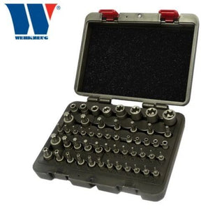 Master Impact - T-Star Torx, E, Plus & Tamperproof Set 52 Pcs Pro - 1165 - M-Tool Workshop Supplies